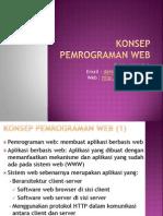 Pertemuan Web 2 Konsep Pemrograman Web