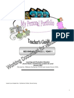 Personal Portfolio Teacher s Guide