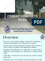 Cement Concrete Road