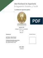 Informe Nº8 QU215. UNI.