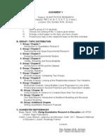 Assignment1 Quantitative Research 2012-2013