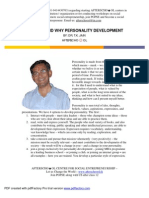 How and Why of Personality Development
