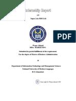 Internship report on super asia