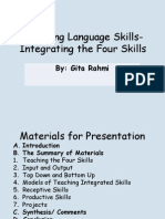 Teaching Language Skills -Intergrating the Four Skills