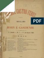 Reclams de Biarn e Gascounhe. - 1er de Heurè 1897 - N°1 (1re Anade)