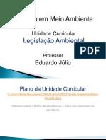 Aula 1 - Introdução à Legislação Ambiental Brasileira