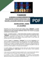 Cartella Stampa T'Ammore Al 210313