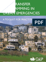 Cash Transfer Programing in Urban Emergencies