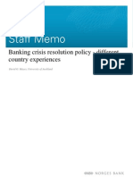 Banking Crisis Resolution Policy