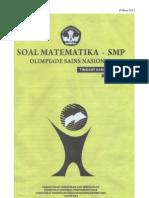 Soal Osn Matematika Smp 2013 Tingkat Kabupaten
