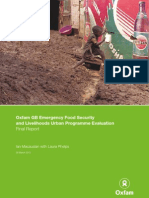 OXFAM 2012 Emergency Food Security Livelihoods Urban Programme Evaluation