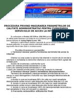 Procedura Privind Masurarea Parametrilor de Calitate