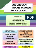 Pengurusan Pendidikan Jasmani Dan Sukan