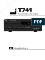 T 741 a v Surround Sound Receiver - Spanish Manual