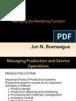 Managing the Marketing Function - Buenaagua, Jun n.