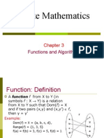 Function and Algorithms (Chapter3)