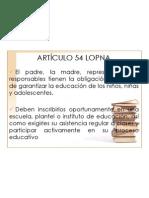 Articulo 54 Lopna 2