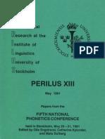 Perilus XIII Phonetics Engstrand Et Al 1991