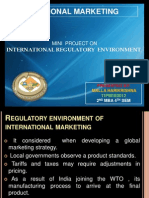 ppt imMINI  PROJECT ON   INTERNATIONAL REGULATORY  ENVIRONMENT ppt
