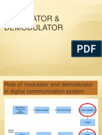 Modulator and demodulator