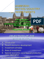 Investment in Cambodia Prepared by Chan Bonnivoit