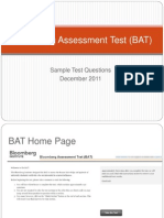 Sample Questions for Bat