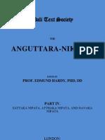 Anguttara-Nikaya. Part 4 [Roman-Script]