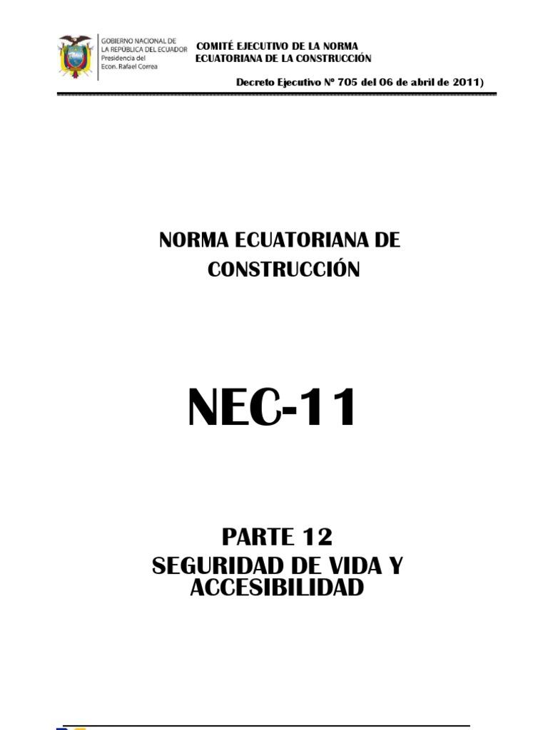 NEC2011 CAP.12 Seguridad de Vida y Accesibilidad