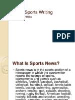Basic Sports Writing