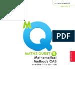 Maths Quest 11 Mathematical Methods CAS Prelims