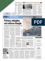 Privacy, inchiesta su Google