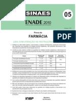 ENADE Farmácia 2010 - Prova