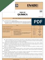 ENADE Química 2008 - Prova