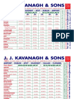 Clonmel to Dublin Airport bus Timetable