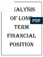 Cover Page of Analysis of Long Term Financial Position