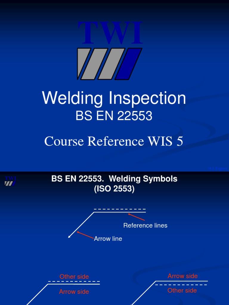 Bs En 22553 Welding Arrow Symbol Industrial Processes Electric