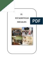 Ix Estadisticas Sociales