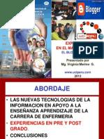 EXPERIENCIA EN EL MANEJO DE TICS  EL BLOG EDUCATIVO