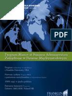 Informator 2013 - Program MBA - Wydział Zamiejscowy w Chorzowie Wyższej Szkoły Bankowej w Poznaniu