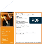 Grand Hyatt DFW - Current Open Positions as of 4/2/13