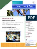 Hill UP Church Newsletter April 2013