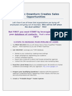 ARTICLE Economic Downturn Creates Sales Opportunitie Final