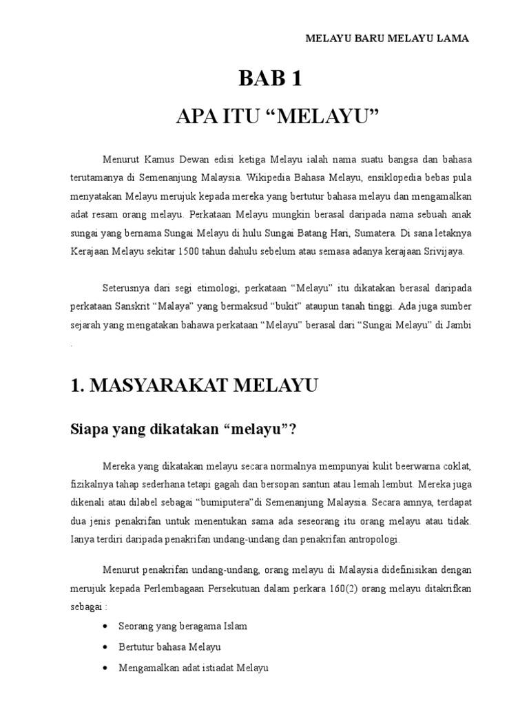 Melayu Baru Melayu Lama   PDF