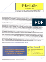 Alberta Disability Workers Association - E-Bulletin for October 25th, 2012