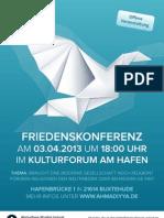 Friedenskonferenz Buxtehude Poster a3 Final