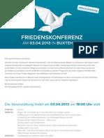 Friedenskonferenz Buxtehude