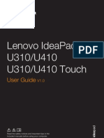Lenovo u310 User Manual