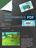 Game Programming With Kodu