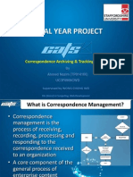Correspondence Archiving & Tracking System