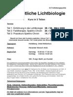 Seminar Ganzheitliche Lichtbiologie, Alexander Wunsch